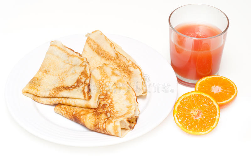 Download Pancakes With Grapefruit Juice And Clementine Stock Image - Image of gourmet, clementine: 17827177