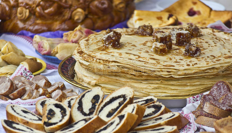 Download Honey pancakes stock image. Image of air, mid, toasted - 29814971
