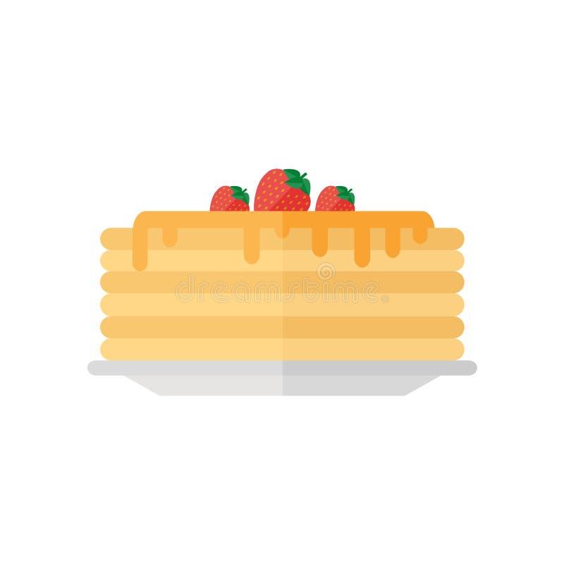 Pancakes icon isolated on white background. stock images