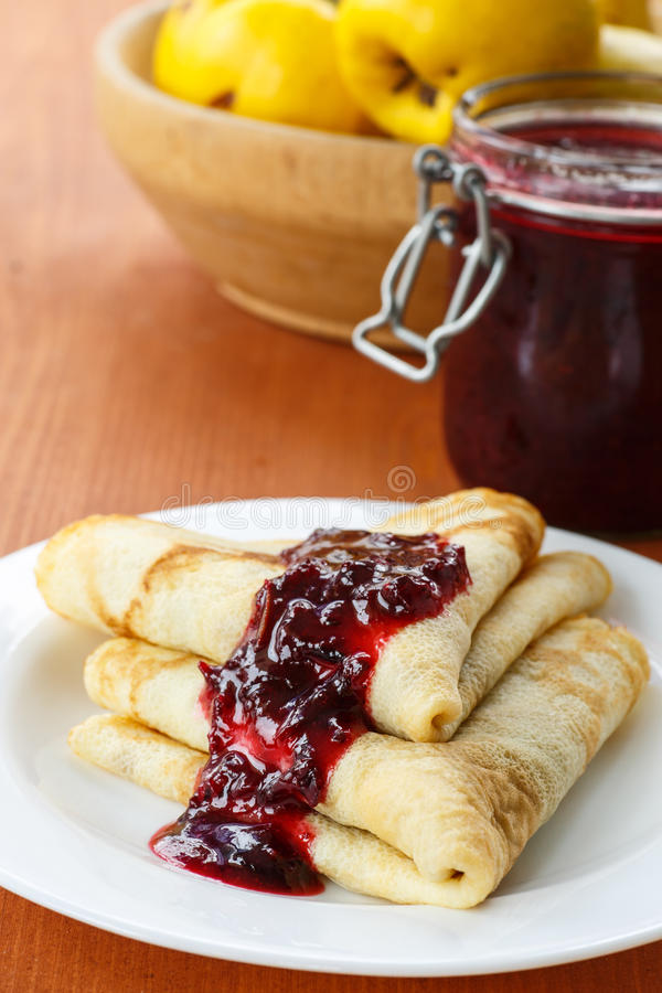 Download Pancakes with jam stock image. Image of meal, food, holidays - 34746343