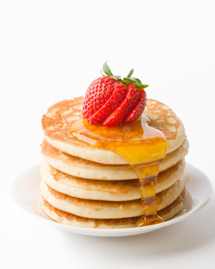 Download Pancakes With Maple Syrup stock photo. Image of breakfast - 12906230