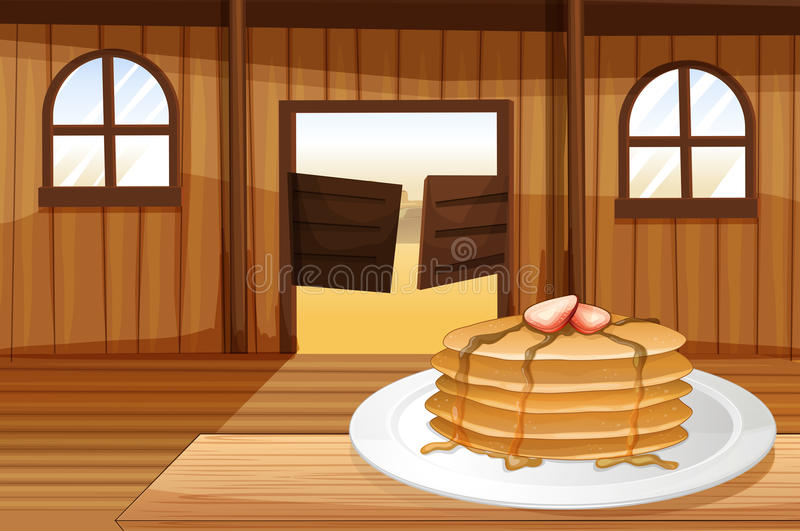 Pancakes In A Plate Stock Photos