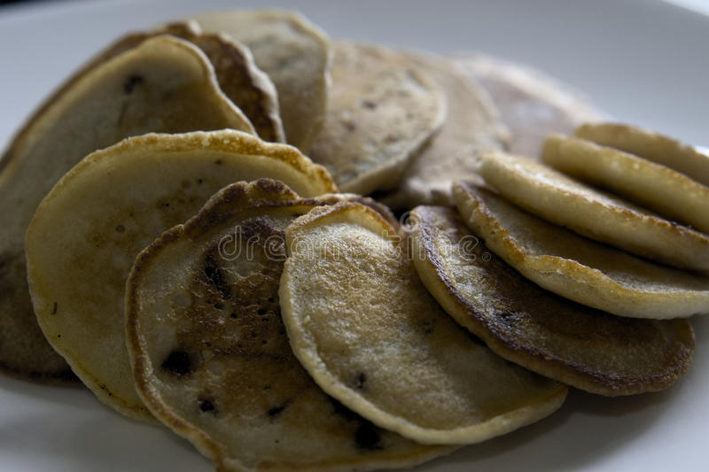 Pancakes on plate royalty free stock photo