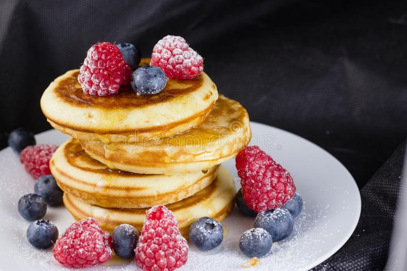 Pancakes in a stack stock image