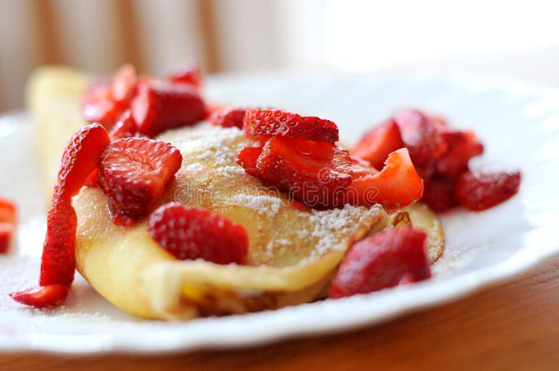 Pancakes With Strawberries Free Public Domain Cc0 Image