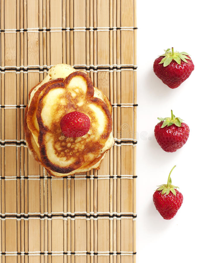 Download Pancakes with strawberry stock photo. Image of cloth - 19734826