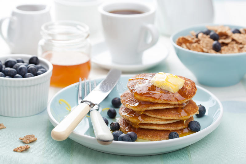 Download Pancakes With Syrup And Blueberry Stock Photography - Image: 27527662
