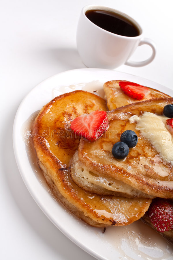 Download Pancakes With Syrup And Coffee Stock Photo - Image: 8175112
