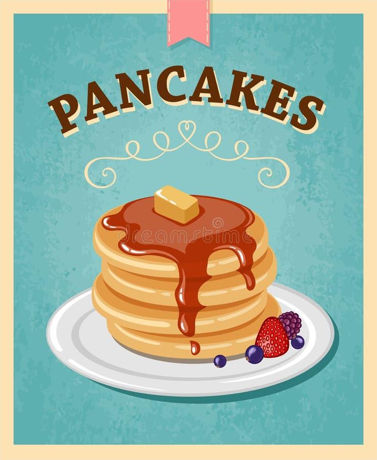 Pancakes stock illustration