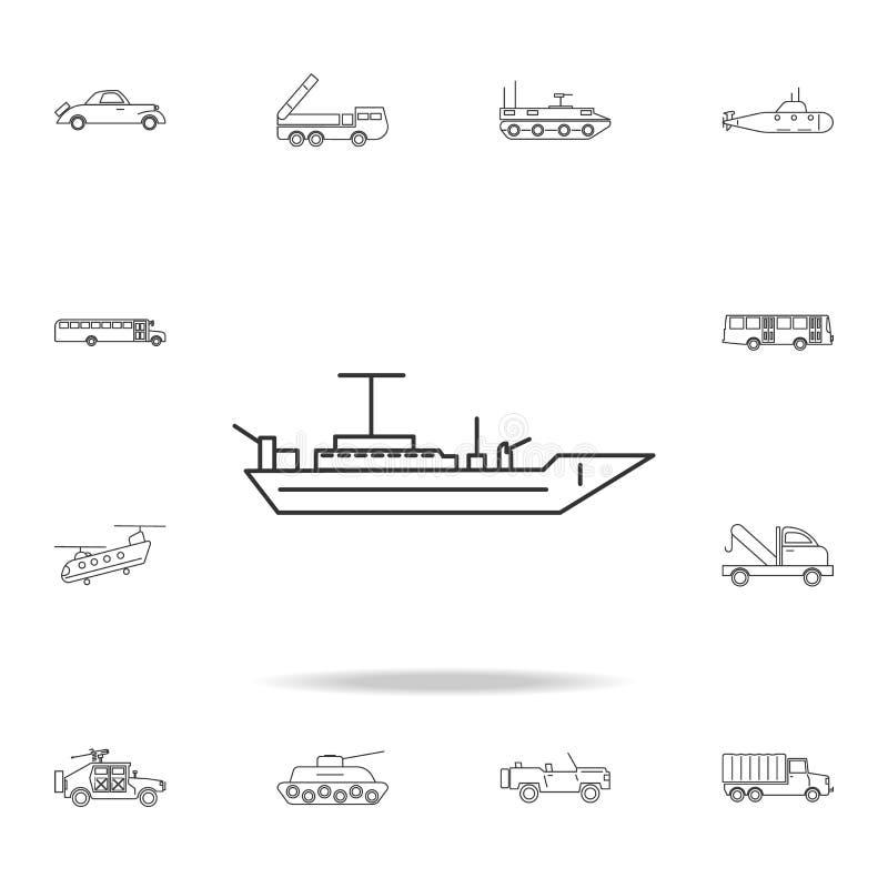 Pancernik kreskowa ikona Szczegółowy set przewiezione kontur ikony Premii ilości graficznego projekta ikona Jeden inkasowe ikony  royalty ilustracja