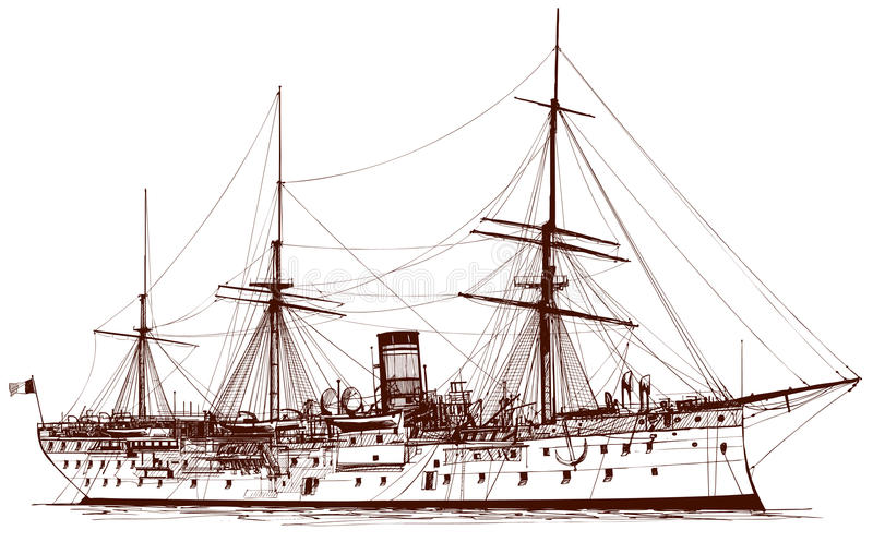 pancernik stary royalty ilustracja