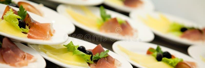 Pancetta affumicata & formaggio fotografie stock libere da diritti