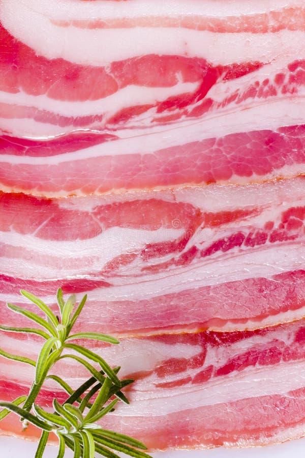 Pancetta affumicata, carne fotografia stock