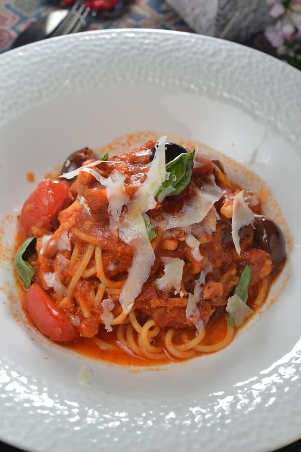 Pancetta do tomate fotografia de stock