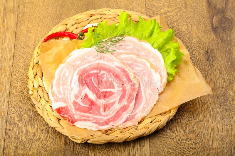 Pancetta royalty free stock images