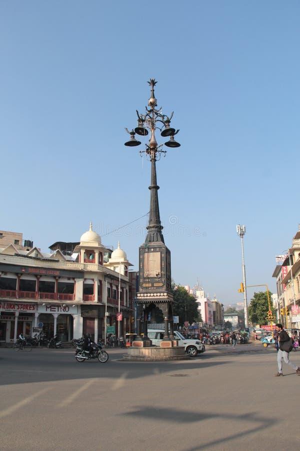 Panch Batti, che significa cinque lampade a Jaipur, Ragiastan immagini stock