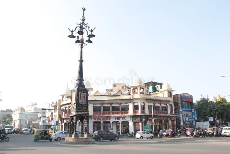 Panch Batti, che significa cinque lampade a Jaipur, Ragiastan immagini stock libere da diritti