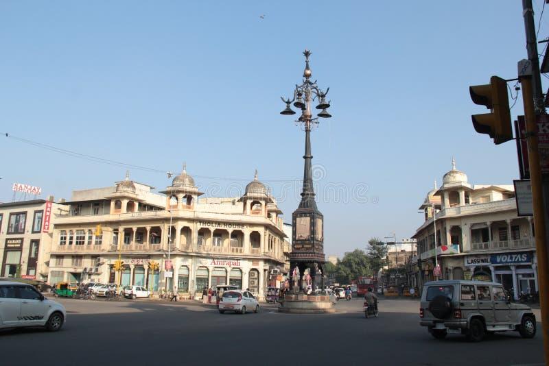Panch Batti, che significa cinque lampade a Jaipur, Ragiastan fotografie stock libere da diritti