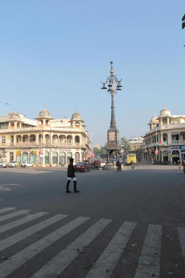 Panch Batti, che significa cinque lampade a Jaipur, Ragiastan fotografie stock