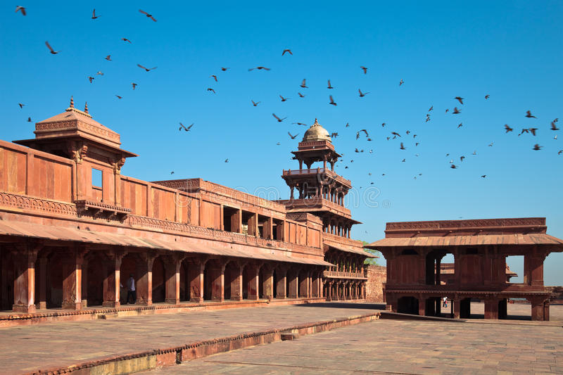 Panch Mahal at Fatehpur Sikri stock images