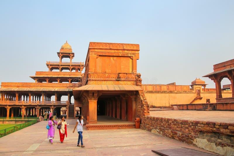 Panch Mahal w Fatehpur Sikri, Uttar Pradesh, India zdjęcia stock