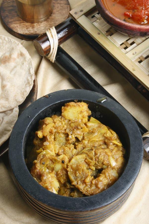 Panch Pooran Tarkaari - miscela di verdure cinque indiani. fotografia stock libera da diritti