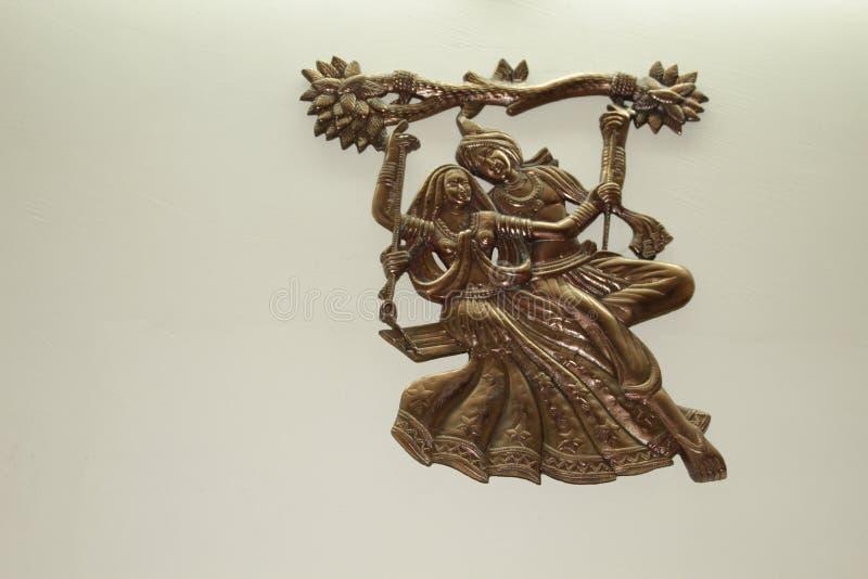 Panchaloha Radha Krishna stock photography
