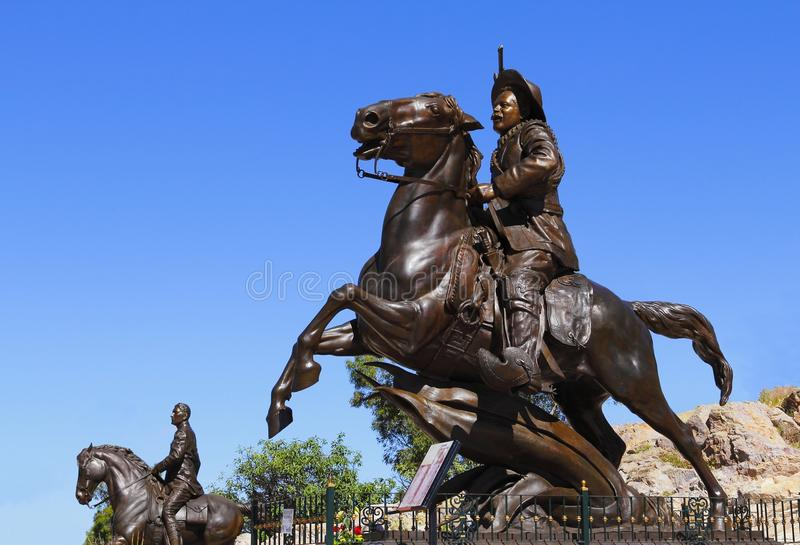 Pancho villa I. Pancho Villa monument as part of the zacatecas city, mexico royalty free stock images