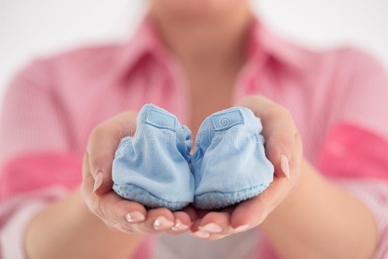 Pancia della donna incinta Concetto di gravidanza Primo piano di un incinto immagini stock libere da diritti