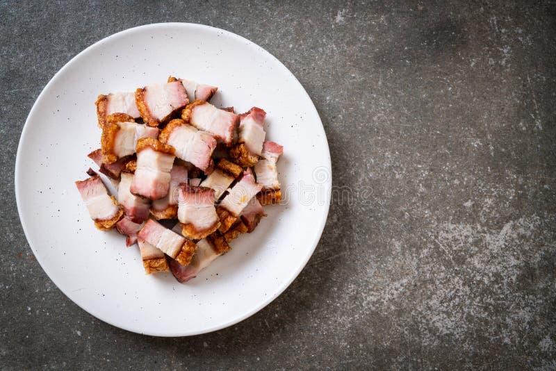 Pancia di carne di maiale croccante fotografie stock libere da diritti