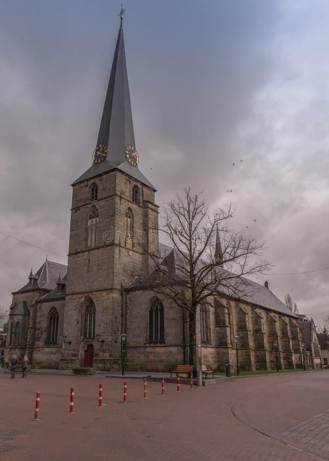 pancratius教会在城市Haaksbergen 库存图片