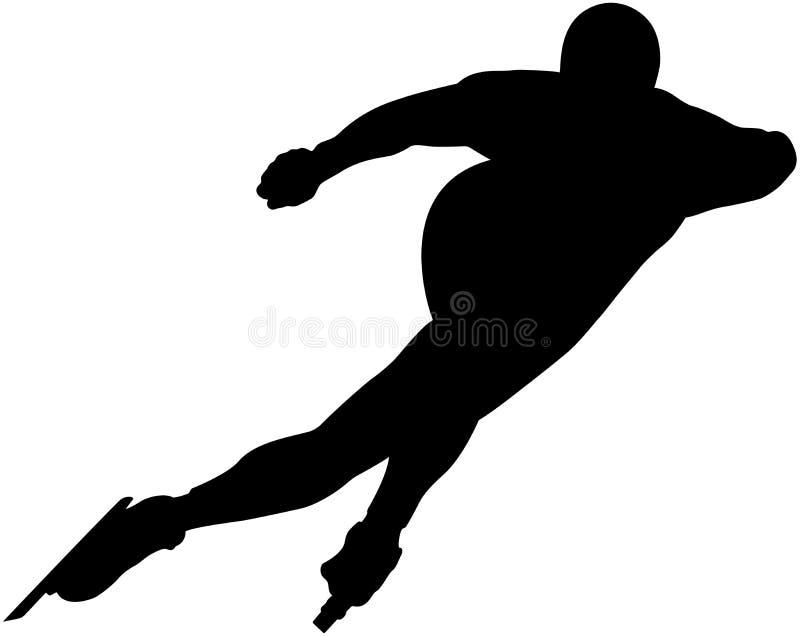 Panczenista atlety prędkości łyżwiarstwo ilustracja wektor