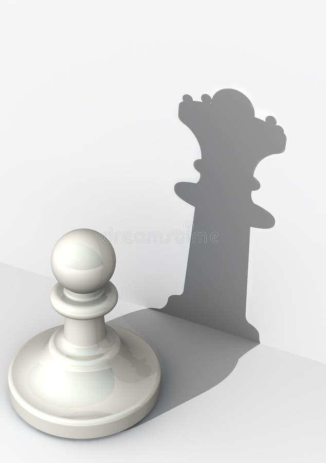 Pand met hoog zelfrespect Schaakstuk royalty-vrije illustratie