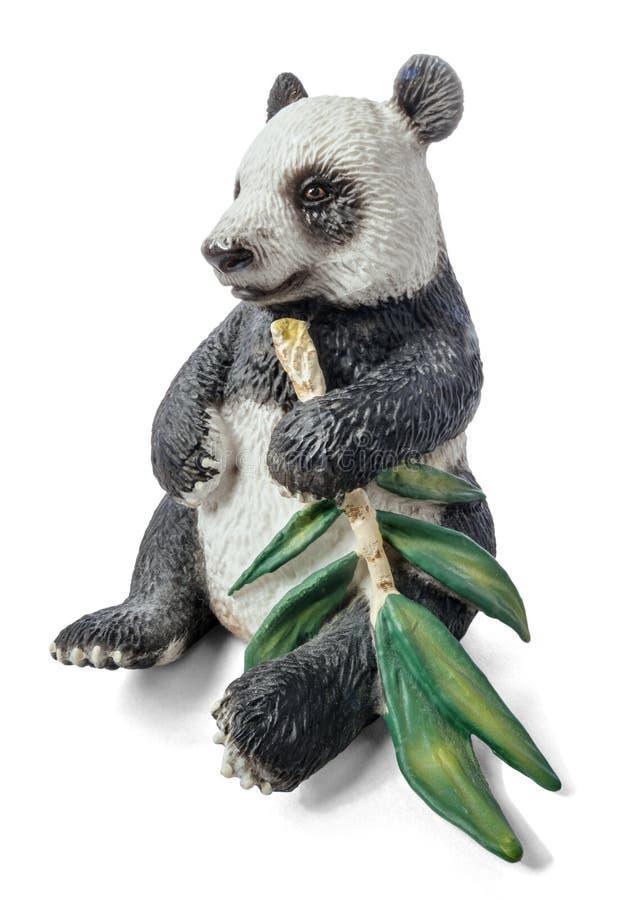 Panda με έναν κλάδο μπαμπού στοκ εικόνες