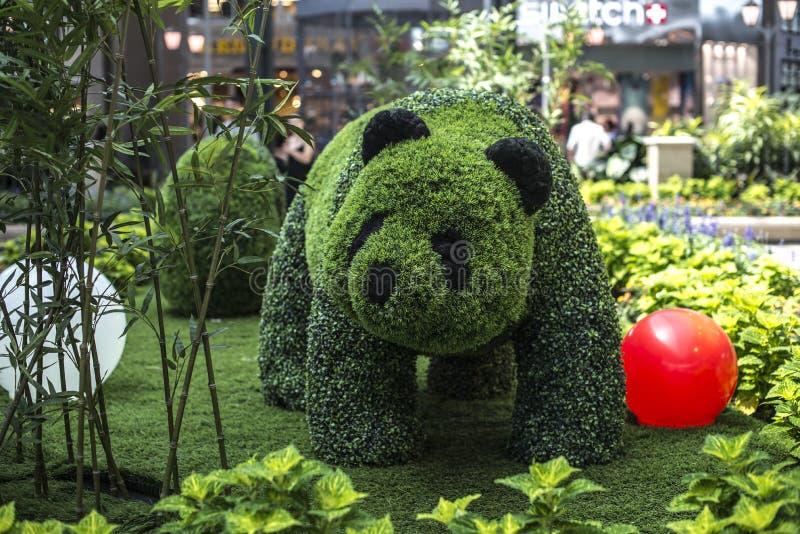 Panda που γίνεται από τις εγκαταστάσεις στοκ φωτογραφία με δικαίωμα ελεύθερης χρήσης