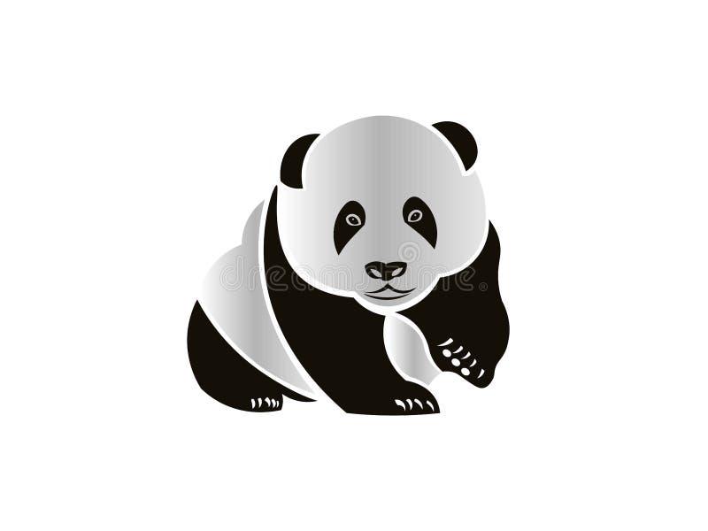 Panda που κοιτάζει προς τα εμπρός στοκ εικόνες