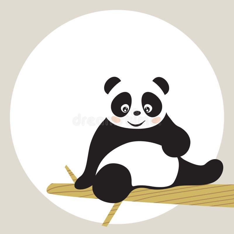 Panda illustration de vecteur