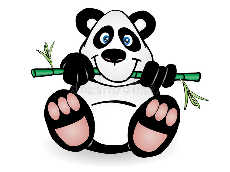 Download Panda stock illustration. Image of background, beautiful - 14345375