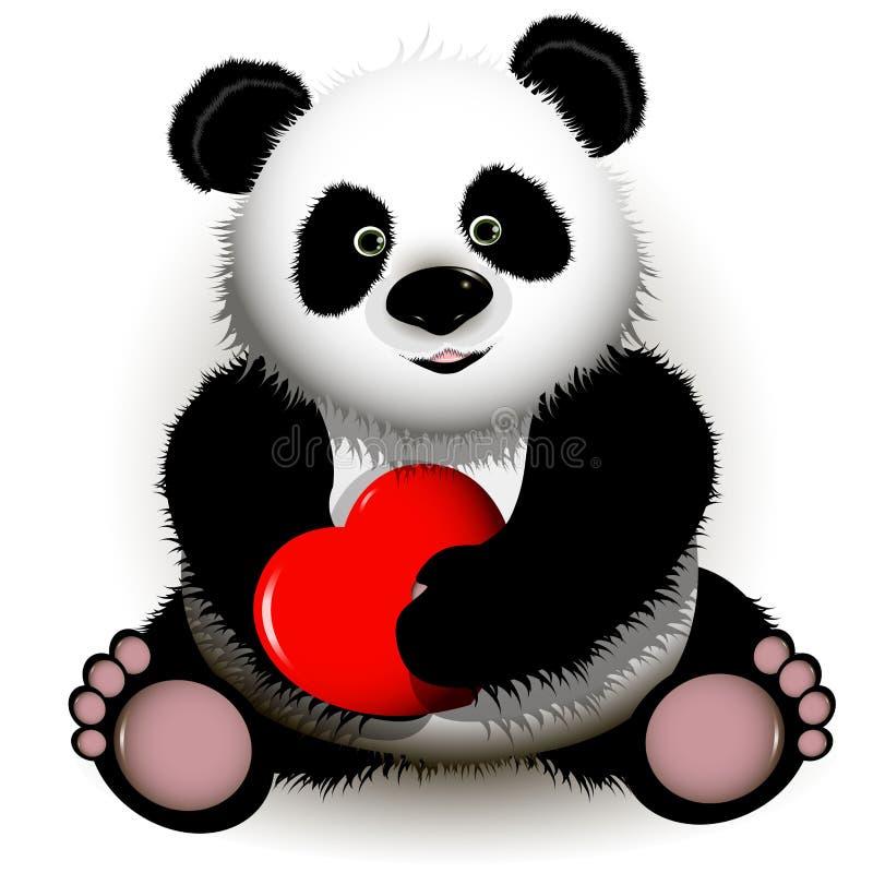 Download Panda stock vector. Image of pink, illustration, vector - 22727898