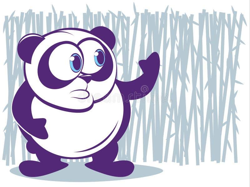 Panda vektor illustrationer