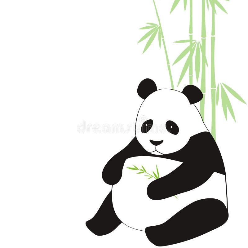 panda royaltyfri illustrationer