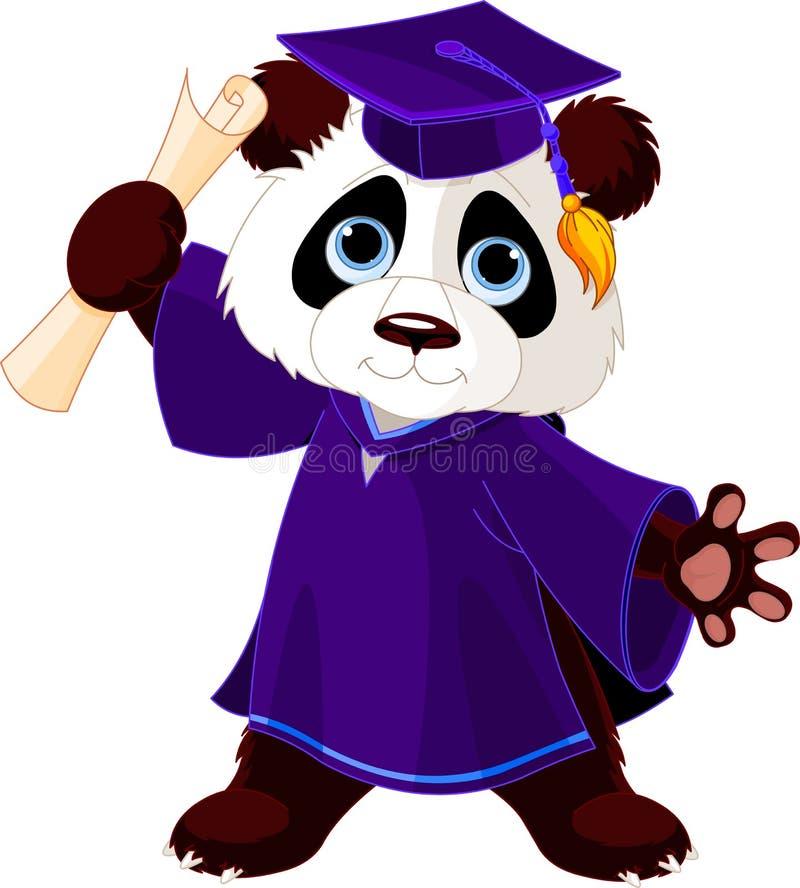 Panda absolwenci royalty ilustracja