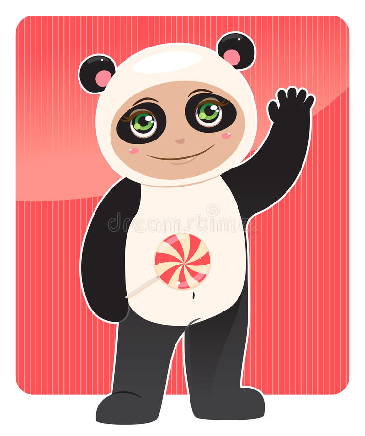 panda amical illustration libre de droits