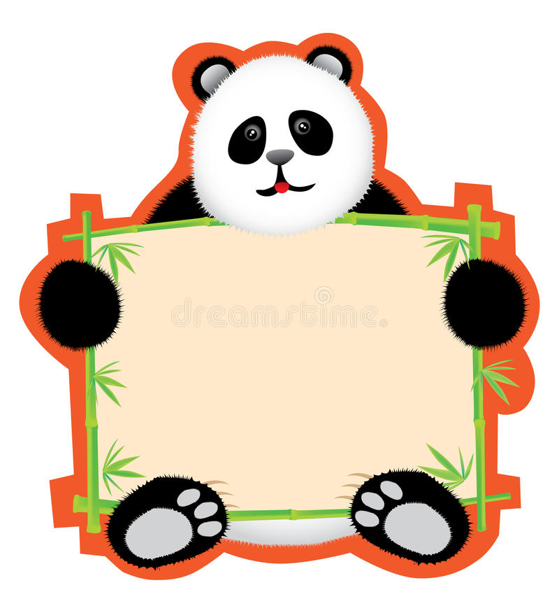 Panda-Anschlagbrett vektor abbildung