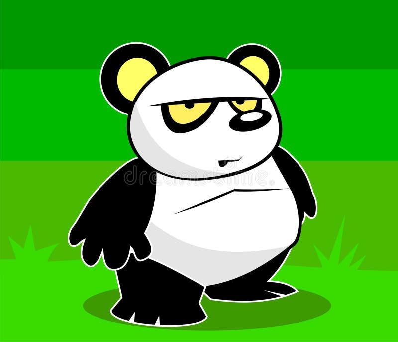 Panda audacieux avec une assiette illustration libre de droits