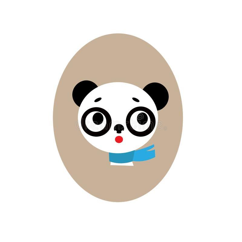 Panda avec l'écharpe bleue image stock