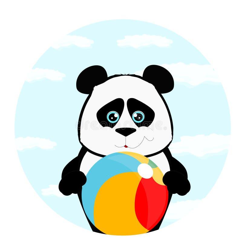 Panda avec la boule illustration libre de droits