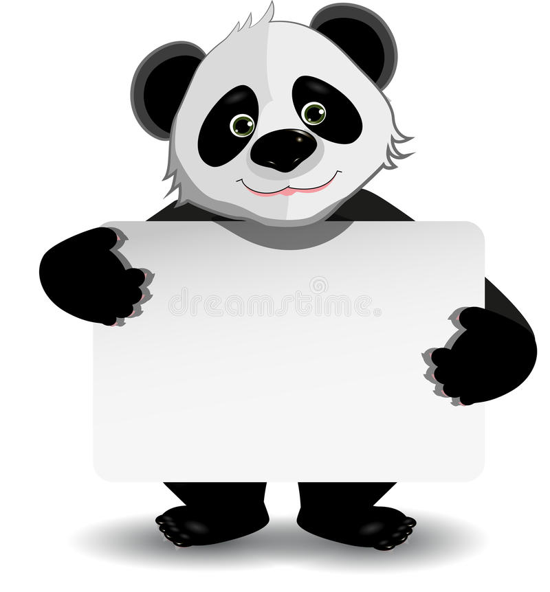Panda avec le fond blanc illustration stock