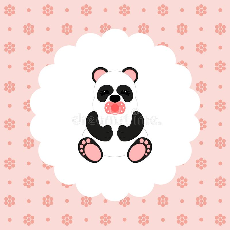 Panda baby. Vector. Flat. vector illustration