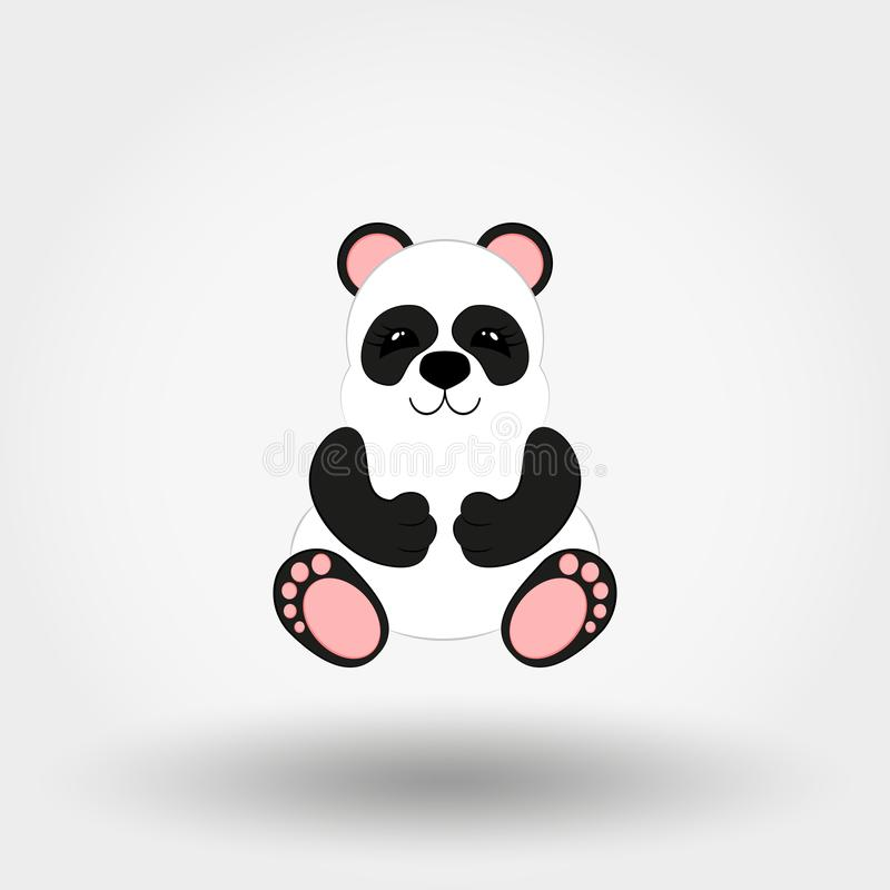 Panda baby. Icon. Vector. Flat. stock illustration